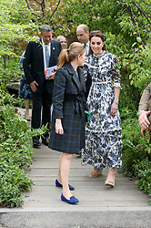 The Duchess of Cambridge looks at a display during her visit to the RHS Chelsea Flower Show at the Royal Hospital Chelsea, London.