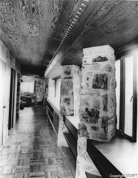 1960s Interior of the pool house, designed by Frank Wright, located in Runyon Canyon, was owned by Huntington Hartford.