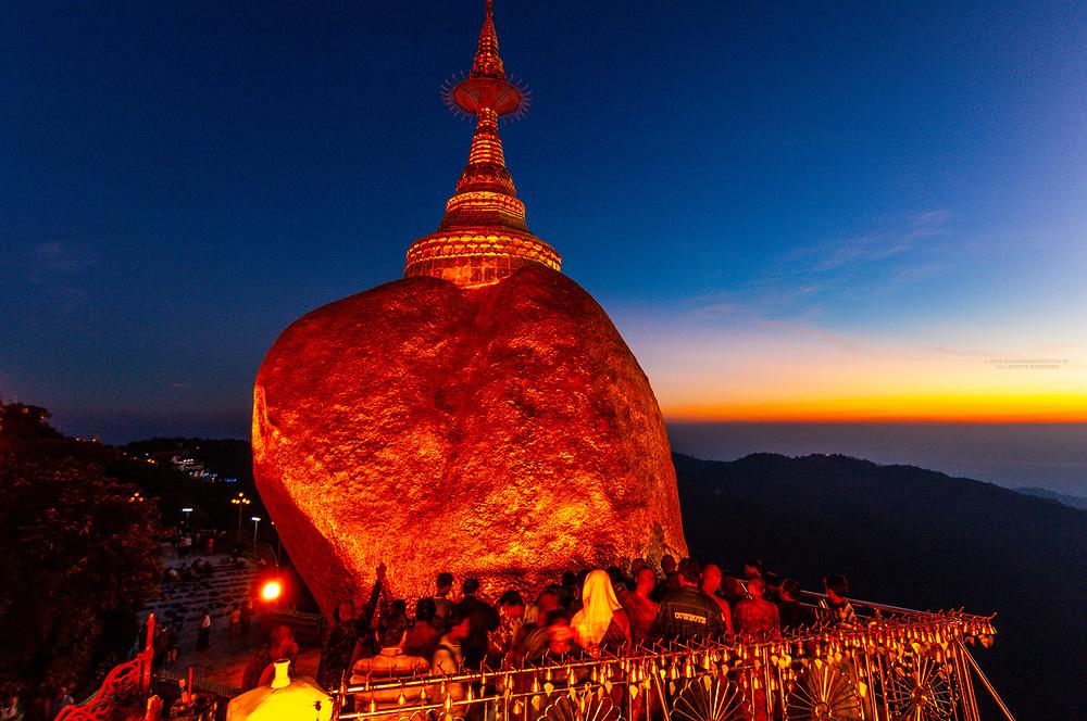 Golden Rock, Kyaikto, Burma (Myanmar).