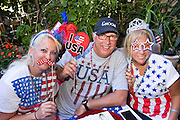 Deborah and Paul celebrate their surprise wedding party with family and friends at their home in San Jose, California, on July 3, 2015. (Stan Olszewski/SOSKIphoto)