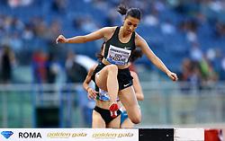 May 31, 2018 - Rome, Italy - Fadwa Sidi Madane (MAR) competes in 3000m Steeplechase women during Golden Gala Iaaf Diamond League Rome 2018 at Olimpico Stadium in Rome, Italy on May 31, 2018. (Credit Image: © Matteo Ciambelli/NurPhoto via ZUMA Press)