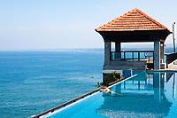 splendid swimming pool in a hotel resort in Kerala state indi