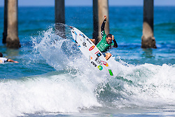 Adriano de Souza (BRA) advances to Round 4 of the VANS US Open of Surfing after placing second in Heat 1 of Round 3 at Huntington Beach, CA, USA.