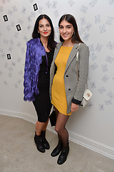 Left to right, YASMIN MILLS and her daughter LAUREN MILLS at the Man Repeller x Liudmila Pre Spring '17 Preview held at 19 Greek Street, Soho, London on 1st June 2016.
