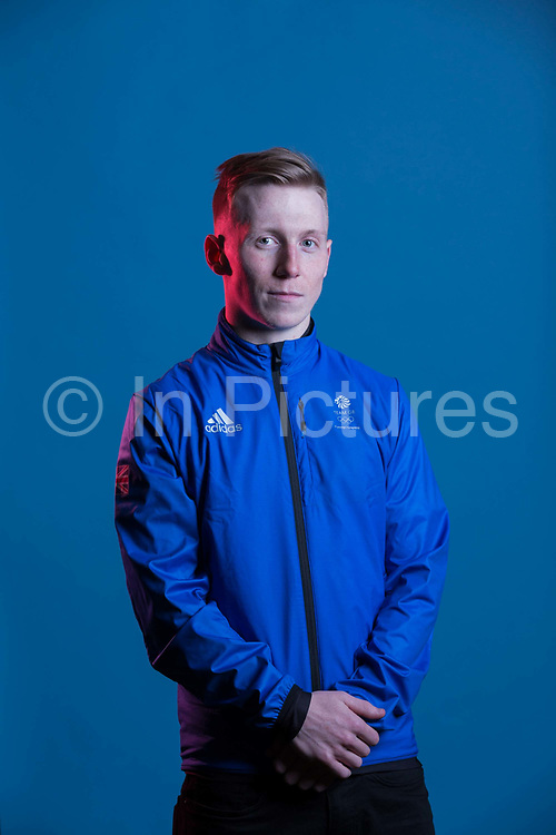 Tyler Harding during GB Park & Pipe Winter Olympic official Adidas kitting out day on 24th January 2018 in Stockport, United Kingdom.