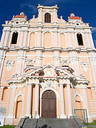 Low-angle view of the Church of St. Casimir (Šv. Kazimiero bažnyčia), Vilnius, Lithuania