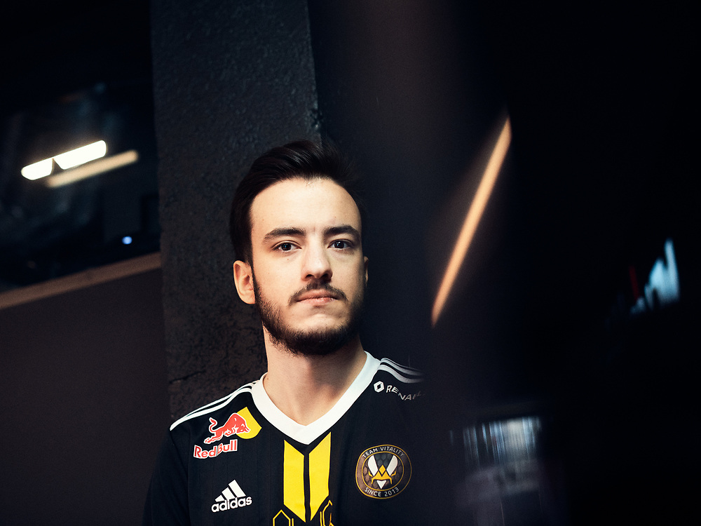 E-Sport player Karim Benghalia, aka Airwaks, posing at the Vitality HQ (V.Hive). Paris, France. March 12, 2020. <br /> Le joueur E-Sport Karim Benghalia, alias Airwaks, posant au Vitality HQ (V.Hive). Paris, France. 12 mars 2020.