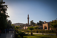 The central mosque in Sanliurfa, southern Turkey. Many of Turkey's southern cities are now home to large numbers of Syrian refugees.