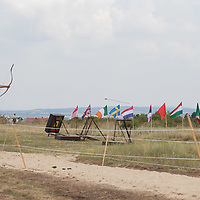 Participant competes in the First Horseback Archery Open World Championships in Pomaz (about 20 kilometres North of capital city Budapest), Hungary on July 6, 2018. ATTILA VOLGYI