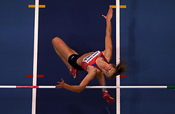 Czech Republic's Michaela Hruba in action during the Women's High Jump during day one of the 2018 IAAF Indoor World Championships at The Arena Birmingham, Birmingham. PRESS ASSOCIATION Photo. Picture date: Thursday March 1, 2018. See PA story ATHLETICS Indoor. Photo credit should read: Simon Cooper/PA Wire.