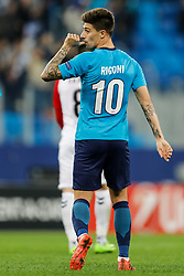 November 23, 2017 - Saint Petersburg, Russia - Emiliano Rigoni of FC Zenit Saint Petersburg celebrates his goal during the UEFA Europa League Group L match between FC Zenit St. Petersburg and FK Vardar at Saint Petersburg Stadium on November 23, 2017 in Saint Petersburg, Russia. (Credit Image: © Mike Kireev/NurPhoto via ZUMA Press)