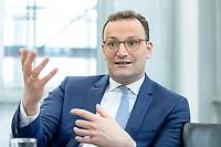 05 MAY 2021, BERLIN/GERMANY:<br /> Jens Spahn, CDU, Bundesgesundheitsminister, wahrend einem Interview, in seinem Buero, Bundesministerium fur Gesundheit<br /> IMAGE: 202105005-01-032
