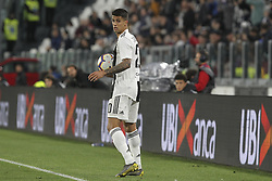 May 3, 2019 - Turin, Piedmont, Italy - Joo Cancelo (Juventus FC)  during the Serie A football match between Juventus FC and Torino FC at Allianz Stadium on May 03, 2019 in Turin, Italy..Final results: 1-1. (Credit Image: © Massimiliano Ferraro/NurPhoto via ZUMA Press)