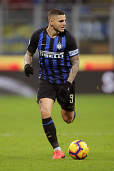 February 3, 2019 - Milan, Milan, Italy - Mauro Icardi #9 of FC Internazionale Milano in action during the serie A match between FC Internazionale and Bologna FC at Stadio Giuseppe Meazza on February 3, 2019 in Milan, Italy. (Credit Image: © Giuseppe Cottini/NurPhoto via ZUMA Press)
