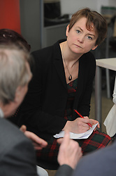 © Licensed to London News Pictures. 26/01/2015<br /> Yvette Cooper MP and Shadow Home Secretary in Hastings and Rye,East Sussex. with Local Labour Candidate Sarah Owen.<br /> Yvette was hosting a question time session with local people on immigration at Sussex Coast College today (26.01.2015)<br /> (Byline:Grant Falvey/LNP)