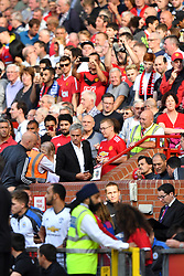 Manchester United manager Jose Mourinho (centre) takes his seat in the dugout