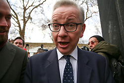 © Licensed to London News Pictures. 12/12/2018. London, UK. Michael Gove - Secretary of State for Environment, Food and Rural Affairs in College Green speaking with a number of Television news channels.The British Prime Minister Theresa May announced that she will contest tonight's vote of no confidence in her leadership. Photo credit: Dinendra Haria/LNP