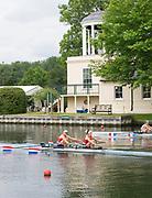 Henley Royal Regatta, Henley on Thames, Oxfordshire, 28 June - 2 July 2017.  Saturday  10:23:10   01/07/2017  [Mandatory Credit/Intersport Images]<br /> <br /> Rowing, Henley Reach, Henley Royal Regatta.<br /> <br /> The Women's Double Sculls<br />  R. de Jong & M. Oldenburg (Hollandia Roeiclub, Netherlands) v  C.B. Bove & L.T. Tarantola (Club France, France)