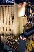 Aerial view of Harrah's Hotel the Strip, Las Vegas, Nevada, USA