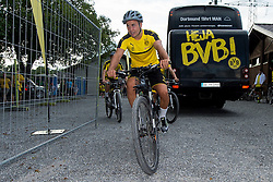 Bad Ragaz, Schweiz 03.08.2016, Trainingslager BV Borussia Dortmund, BVB,  Mario Goetze (BVB) auf dem fahrrad  / 030816<br /> ***Training camp of Borussia Dortmund in Bad Ragaz, Switzerland, August 3rd, 2016***
