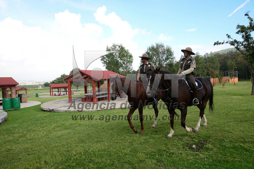 Toluca, México.- En el parque Estatal Siera Morelos fueron inauguradas las instalaciones de la granja didáctica y ciclopista de mil metros de longitud. Agencia MVT / Crisanta Espinosa