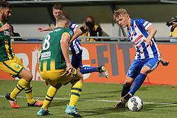 Aaron Meijers of ADO Den Haag, Martin Odegaard of sc Heerenveen during the Dutch Eredivisie match between ADO Den Haag and sc Heerenveen at Kyocera stadium on August 26, 2017 in The Hague, The Netherlands
