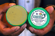 In the industrialization of coca leaf, the bigger part is the one of medical products, a small factory from El Alto, La Paz, is doing, early manually, ointment, syrups and many other things using coca leaves