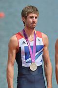 Eton Dorney, Windsor, Great Britain,..2012 London Olympic Regatta, Dorney Lake. Eton Rowing Centre, Berkshire.  Dorney Lake.  .GBR LM 2X Silver Medalist, Zac PURCHASE..12:56:04  Saturday  04/08/2012 [Mandatory Credit: Peter Spurrier/Intersport Images]