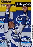 CYCLING - TOUR DE FRANCE 2004 - PROLOGUE LIEGE (BEL) - INDIVIDUAL TIME TRIAL - 3/07/04 - PHOTO: PHILIPPE MILLEREAU/DPPI<br />FABIAN CANCELLARA (SUI) / FASSA BORTOLO - WINNER