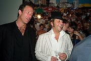 Petroc Sesti; Lars von Bennigsen , Quintessentially  Summer arts party with Perier Jouet.  An evening of performance art. Phillips de Pury Gallery. London. 9 July 2008. *** Local Caption *** -DO NOT ARCHIVE-© Copyright Photograph by Dafydd Jones. 248 Clapham Rd. London SW9 0PZ. Tel 0207 820 0771. www.dafjones.com.