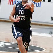 Anadolu Efes's Kerem Tunceri during their Turkish Basketball league derby match Besiktas between Anadolu Efes at the BJK Akatlar Arena in Istanbul Turkey on Saturday 31 December 2011. Photo by TURKPIX