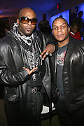 """Treach and Vin Rock( Naughty By Nature) at """" The P. Diddy presents Bad Boy Entertainment Night """" at Spotlight NYC featuring performances by Cherri Dennis and Vanity Kane on January 29, 2008"""