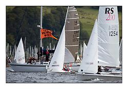 Largs Regatta Week - August 2012..Dinghy Fleet, Committee Vessel,  INTERNATIONAL 14, GBR 1372, Chris Nicol, Dawn Macrae ..