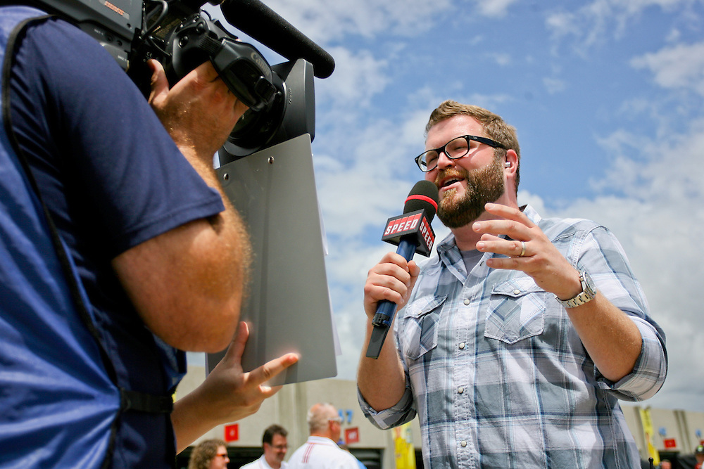 May 24, 2012; Concord, NC USA; TV personality Rutledge Wood prior to the Coca-Cola 600 at Charlotte Motor Speedway. Photo by Kevin Liles/kevindliles.com