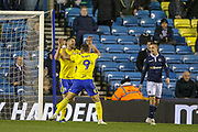 Goal!…Birmingham celebrate the first goal, an own goal by Millwall defender James Meredith (3) during the EFL Sky Bet Championship match between Millwall and Birmingham City at The Den, London, England on 28 November 2018.