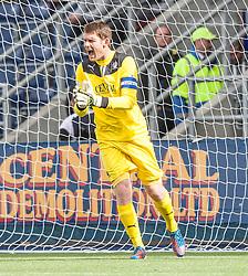Falkirk's keeper Michael McGovern.<br /> Falkirk 1 v 2 Hamilton, Scottish Championship 31/8/2013.<br /> ©Michael Schofield.