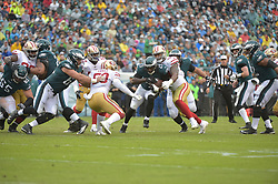 Oct 29, 2017; Philadelphia, PA, The Philadelphia Eagles against the San Francisco 49ers at Lincoln Financial Field. The Eagles won 34-24. (Photo by John Geliebter/Philadelphia Eagles)