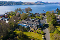 View of Rosslea Hall Hotel a Victoria Xu Hotel in Rhu village on the Gare Loch in Argyll and Bute, Scotland, UK