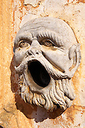 Sculpture of a man screaming Garden of Baroque Villa Palagonia Baghera Sicily .<br /> <br /> Visit our SICILY PHOTO COLLECTIONS for more   photos  to download or buy as prints https://funkystock.photoshelter.com/gallery-collection/2b-Pictures-Images-of-Sicily-Photos-of-Sicilian-Historic-Landmark-Sites/C0000qAkj8TXCzro<br /> If you prefer to buy from our ALAMY PHOTO LIBRARY  Collection visit : https://www.alamy.com/portfolio/paul-williams-funkystock/villapalagonia.html