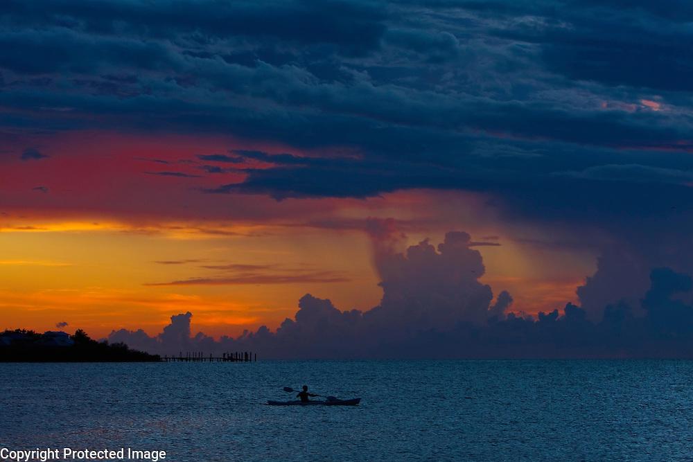 Kayaker at Sunset, Grassy Key, Florida Keys