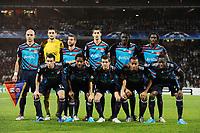 FOOTBALL - UEFA CHAMPIONS LEAGUE 2010/2011 - GROUP STAGE - GROUP B - OLYMPIQUE LYONNAIS v HAPOEL TEL AVIV - 07/12/2010 - PHOTO FRANCK FAUGERE / DPPI - TEAM LYON ( BACK ROW LEFT TO RIGHT: CRIS / HUGO LLORIS / LISANDRO / MAXIME GONALONS / BAFETIMBI GOMIS / PAPE DIAKHATE. FRONT ROW: ANTHONY REVEILLERE / JEAN MAKOUN / MIRALEM PJANIC / JIMMY BRIAND / ALY CISSOKHO )