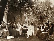 Photograph of National Woman's Party council members  1924. Left to Right: Dora Ogle, Mrs. J.D. Wilkinson, Dora Lewis, Lavinia Egan, Edith Ainge, Alice Paul, Martha Souder, Florence Boeckel, Edith Hooker (Nev.)