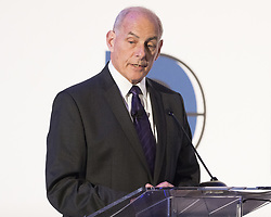 June 28, 2017 - Washington, DC, U.S - Secretary of Homeland Security JOHN KELLY speaking at the Center for a New American Security's annual conference in Washington, DC on June 28, 2017. (Credit Image: © Michael Brochstein via ZUMA Wire)