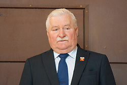 Former Polish president Lech Walesa during a visit to the European Solidarity Centre and Monument to the Fallen Shipyard Workers of 1970 in Gdansk, the birthplace of Poland's Solidarity movement that helped topple Communist rule.