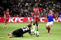 June 12, 2018 - Paris, France, France - Usain Bolt (Fifa98) vs Lionel Charbonnier  (Credit Image: © Panoramic via ZUMA Press)