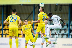 Predrag Sikimic of Domzale vs Kevin Grobry Doukoure of Tabor Sezana during football match between NK Domzale and NK CB24 Tabor Sezana in 31st Round of Prva liga Telekom Slovenije 2019/20, on July 3, 2020 in Sports park, Domzale, Slovenia. Photo by Vid Ponikvar / Sportida