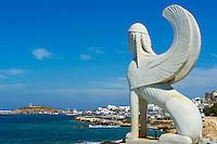 Europe, Grece, Mer Egée, Cyclades, île de Naxos, ville fortifié de Hora, le Kastro // The Chora, Hora, Naxos island, Cyclades Islands, Greek Islands, Aegean Sea, Greece, Europe