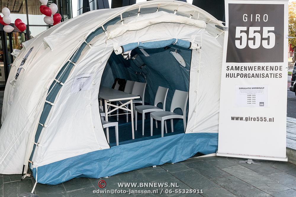NLD/Hilversum/20181010 -  555 actiedag voor Sulawesi, Opvang tent