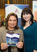Brenda Dooley AXIS Healthcare Consulting Ltd and  Norah Casey at the annual SCCUL Enterprise Awards prize giving ceremony and business expo which was hosted by NUI Galway in the Bailey Allen Hall, NUIG. Photo:Andrew Downes