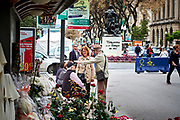 Older people meating each other at the Nova Rambla, Tarragona, Catalonia, Spain.